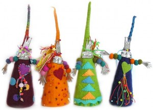 This is a picture of the Art Girlz little cone people