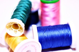 Picture of Spools of Thread